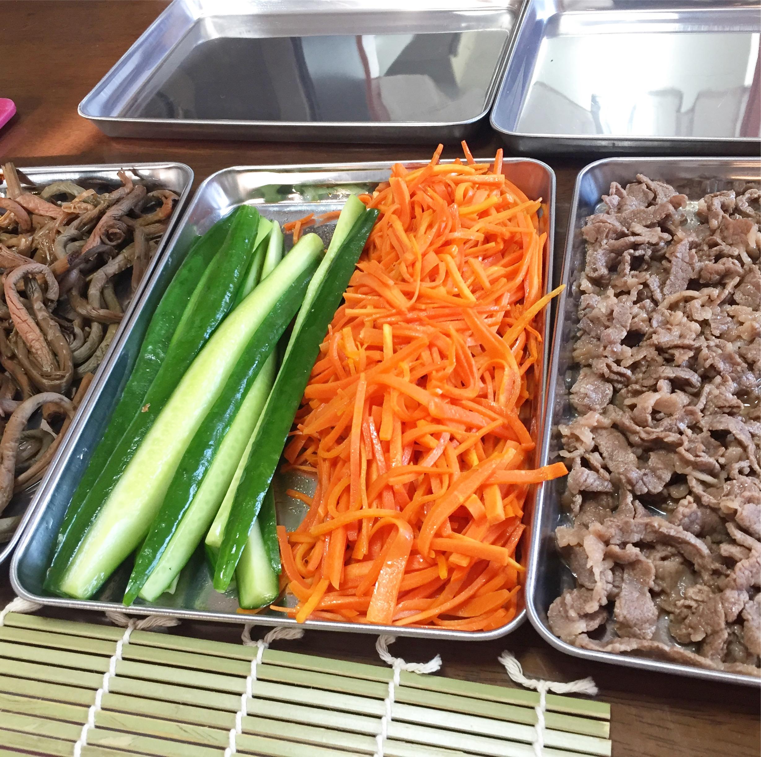 韓国料理キンパ巻きレッスン