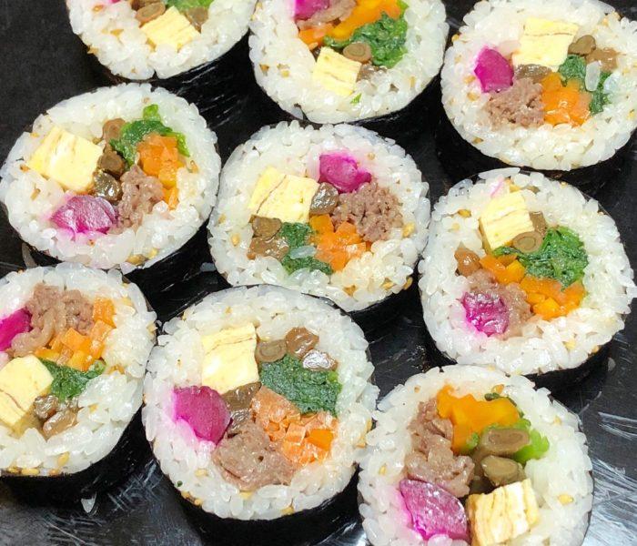 韓国海苔巻きキンパ巻き&お料理コラボ