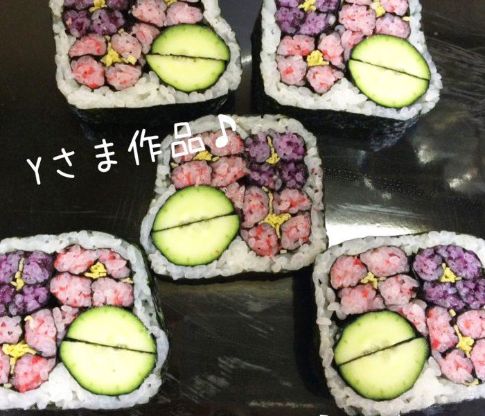 生徒さま作品♪デコ巻き寿司紫陽花