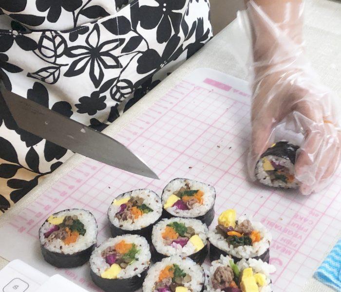 デコ巻き寿司 肉キンパ巻き♪